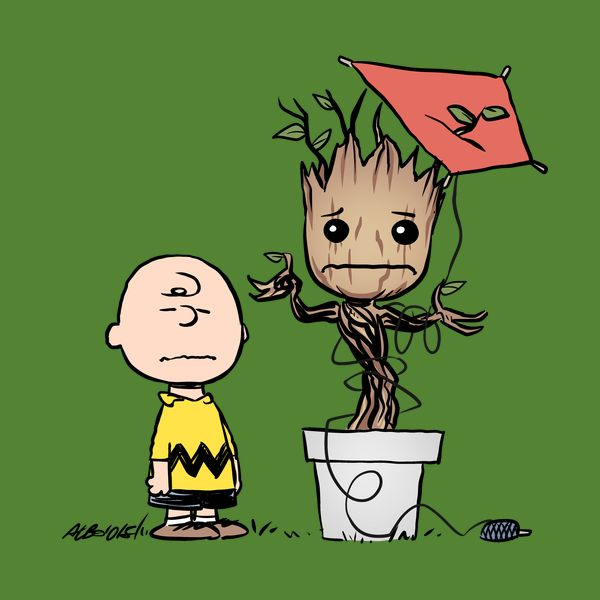 Charles And Groot - Bad Luck Chuck - Neatorama