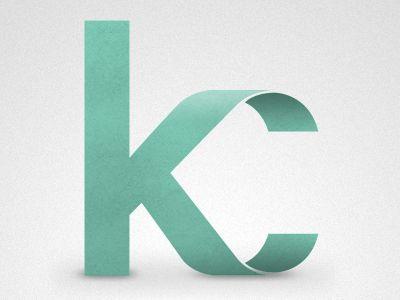 """KC"" monogram by Ryan Hamrick"