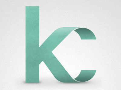 """KC"" monogram by Ryan Hamrick   Reputation Line Inc. NY - Branding"