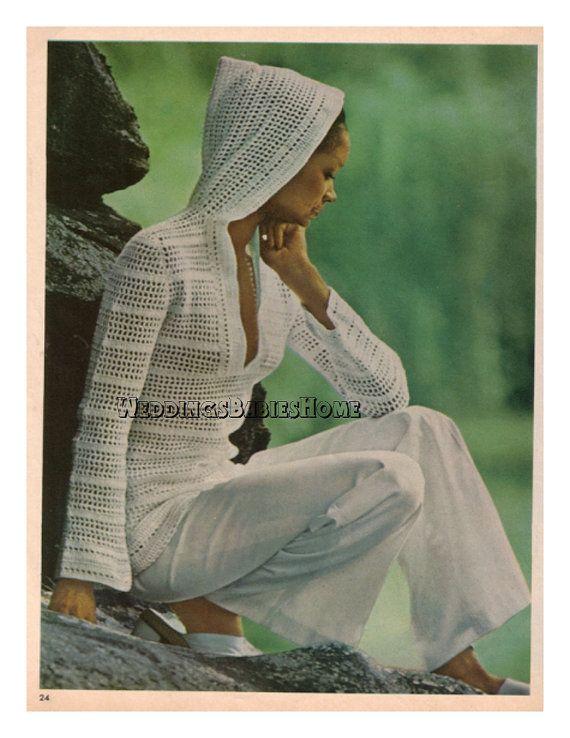 Crochet Hoodie Pattern download summer cover by WeddingsBabiesHome