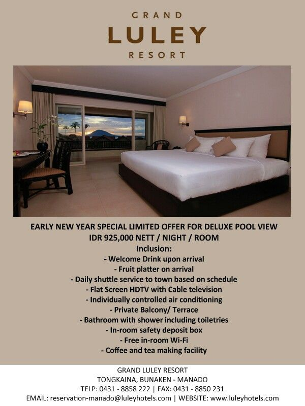Early New Year Special Offer for reservation visit our website at www.luleyhotels.com