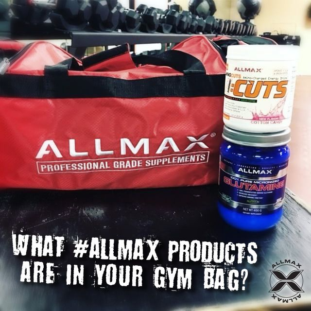 What #ALLMAX product fits into your life on the way to the gym? #ACUTS is your pre-workout drink mix, full of Aminos and loaded with diet-friendly ingredients. Will provide energy for training while maintaining muscle mass & support a fat burning diet. #GLUTAMINE is your post-workout essential amino acid that plays a role in the metabolism of protein while strengthening the immune system and supporting recovery.