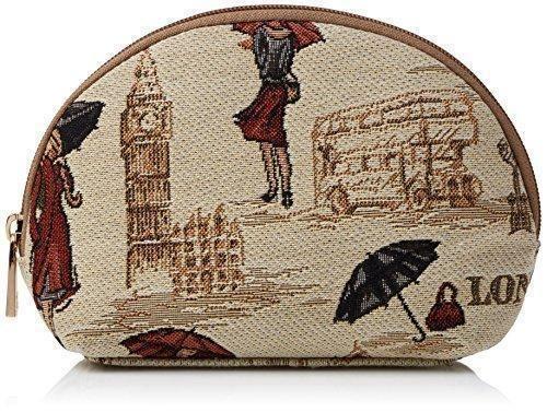 Oferta: 11€. Comprar Ofertas de Estuche de maquillaje de moda Signare para mujer en tela de tapiz miss Londres barato. ¡Mira las ofertas!