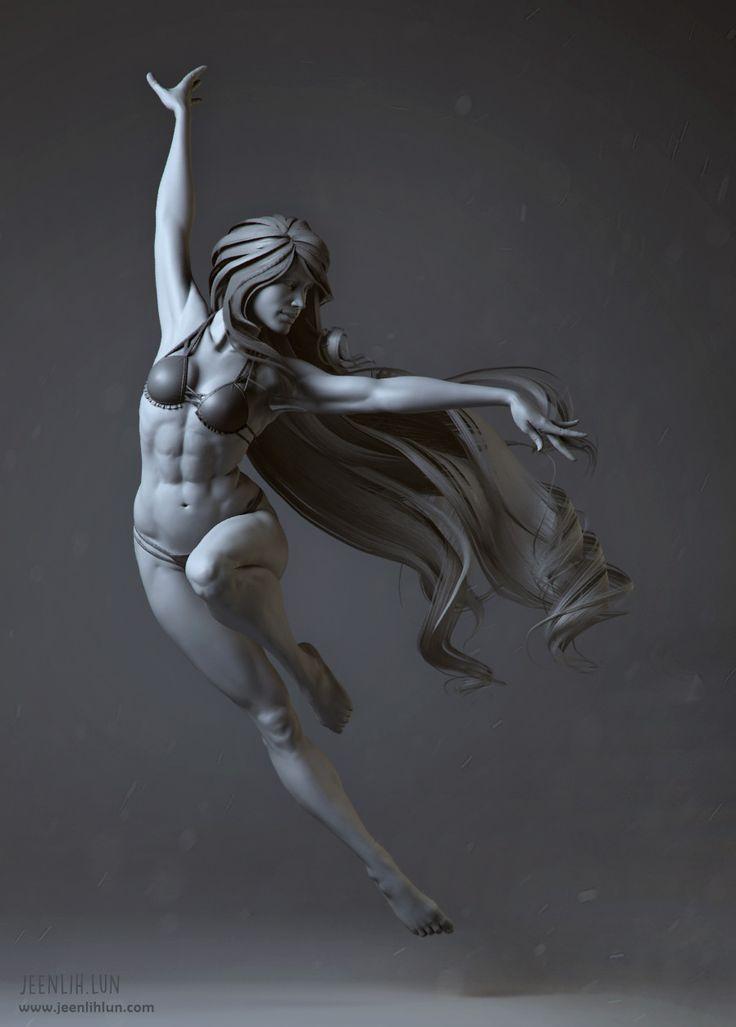 Lady in the wind I, Jeen Lih Lun on ArtStation at https://www.artstation.com/artwork/D9Y5R