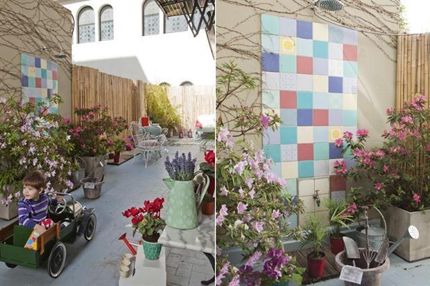 Diez terrazas y patios para tomar ideas patios backyard for Azulejos patio exterior
