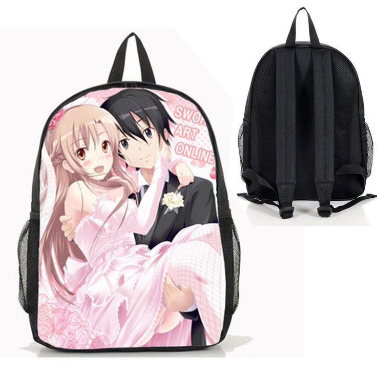 Dreamcosplay anime sword art online girl backpackschool