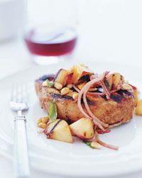 Pork Chops with Nectarine Relish // More Perfect Grilled Meats: http://fandw.me/qWf #foodandwine