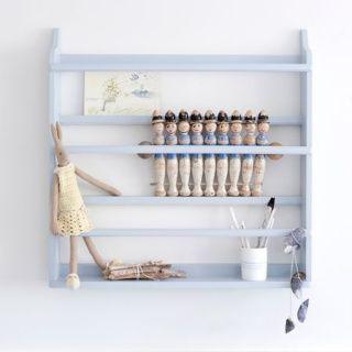 Materia Oliver Furniture Tallriksställ / Bokställ till barnrum - grå   Materia   Barnmöbler
