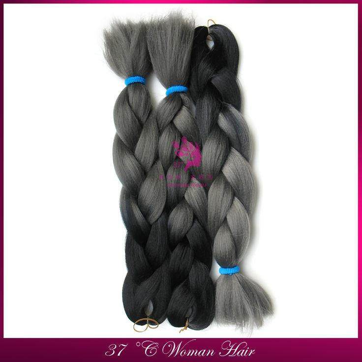 Два Тона Моноволокно Джамбо Косу Волосы ломбер два тона цвета темно-серый синтетического плетения волос 50 см 100 г коробку косы hairHOT!!!!