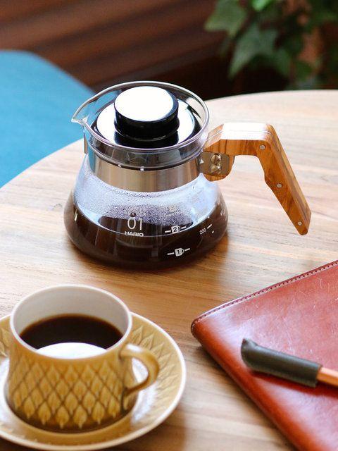 「HARIO」の「オリーブウッドコーヒーサーバー」