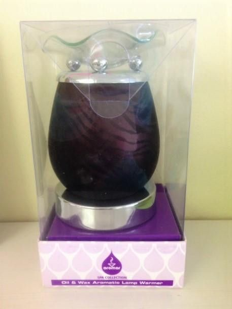 Black Zebra electric decorative touch lamp, aromatic oil burner,scented oil warmer, wax melter