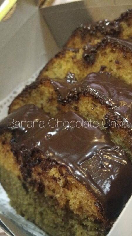 Banana choco cake