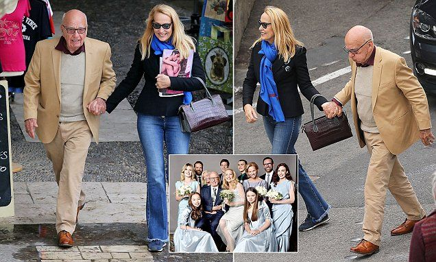 Rupert Murdoch and his fourth wife Jerry Hall take a stroll on their honeymoon | Daily Mail Online