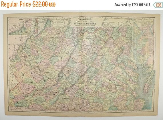 Best  Virginia Map Ideas On Pinterest - Us wall maps for sale