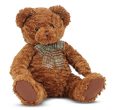 Dignified and plumply stuffed, this handsome teddy bear stuffed animal is over 16 inches long! #ilovetoshop