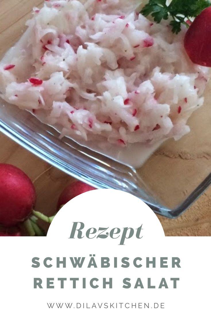 Die Schwaben lieben das Einfache und Rustikale. Lecker muss es aber trotzdem sein. Was würde da besser zu einem Schwäbischen Vesper passen, als ein zünftiger Rettichsalat? http://www.dilavskitchen.de/schwaebischer-rettichsalat/