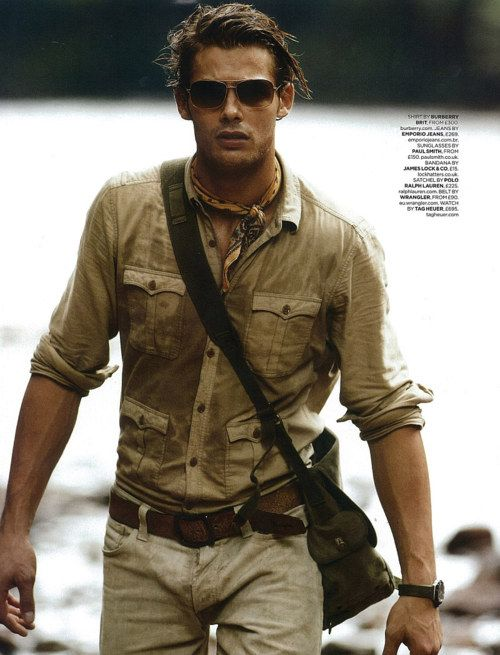 Indiana Jones new wardrobe. 4 button safari shirt