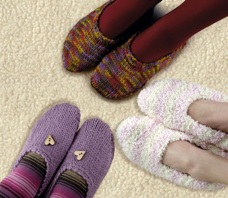 Knitting Slippers For Charity : Best knit slippers images on pinterest knitted