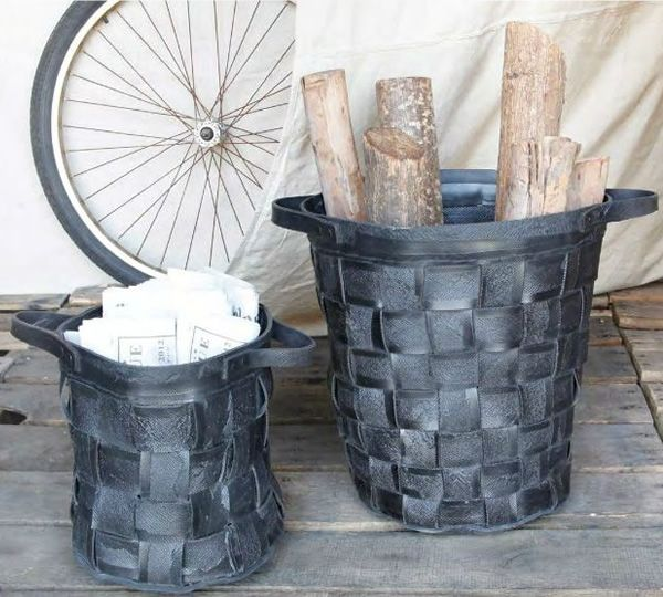 Recycled Tire Baskets