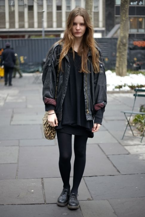 Street Style New York – IMG Model Tilda Lindstam Pairs Doc Martens with Vintage | StyleCaster