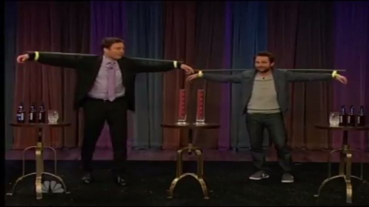 Charlie Day and Jimmy Fallon Spilling Beer Game