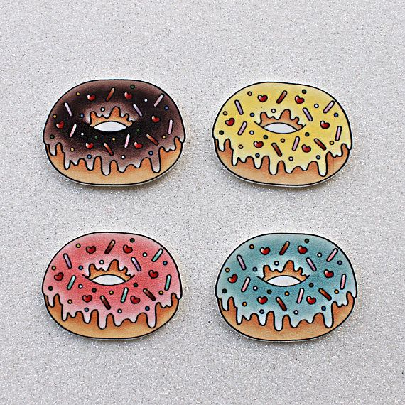 Iced Donut brooch or magnet