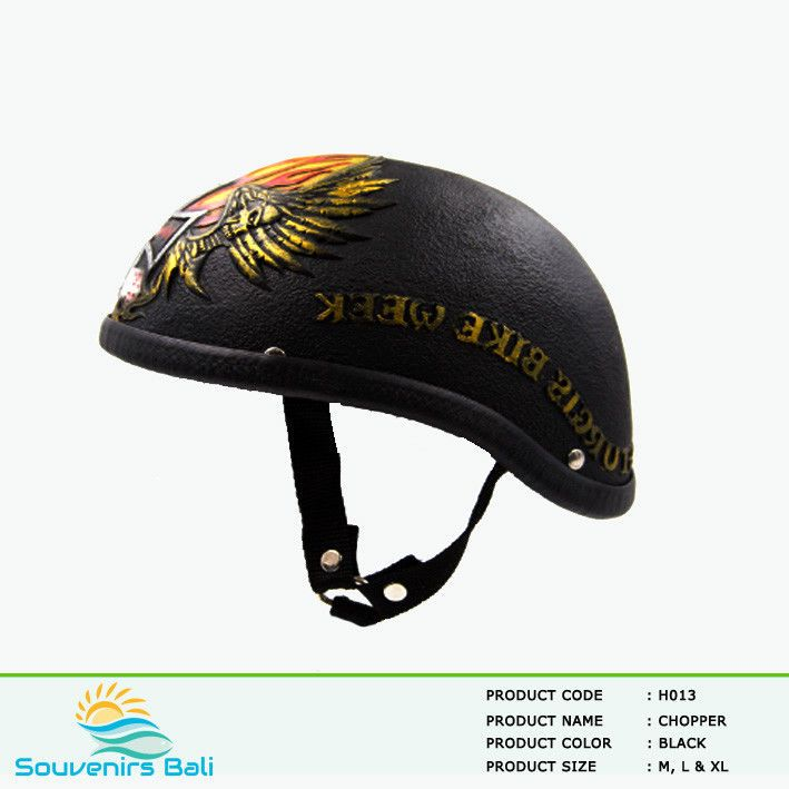 Chopper Motorcycle Helmet Colour Open Face Style - Sturgis Bike Week Festival #Unbranded #Motorcycle