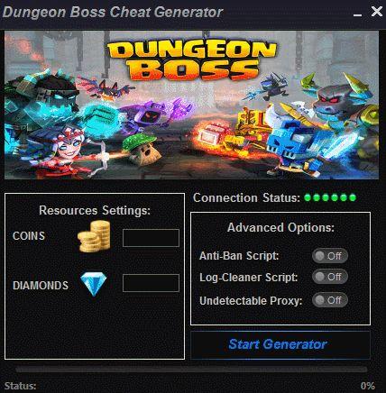 Dungeon Boss Cheat Generator