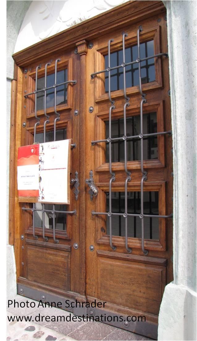 Door in Radovljica, Slovenia