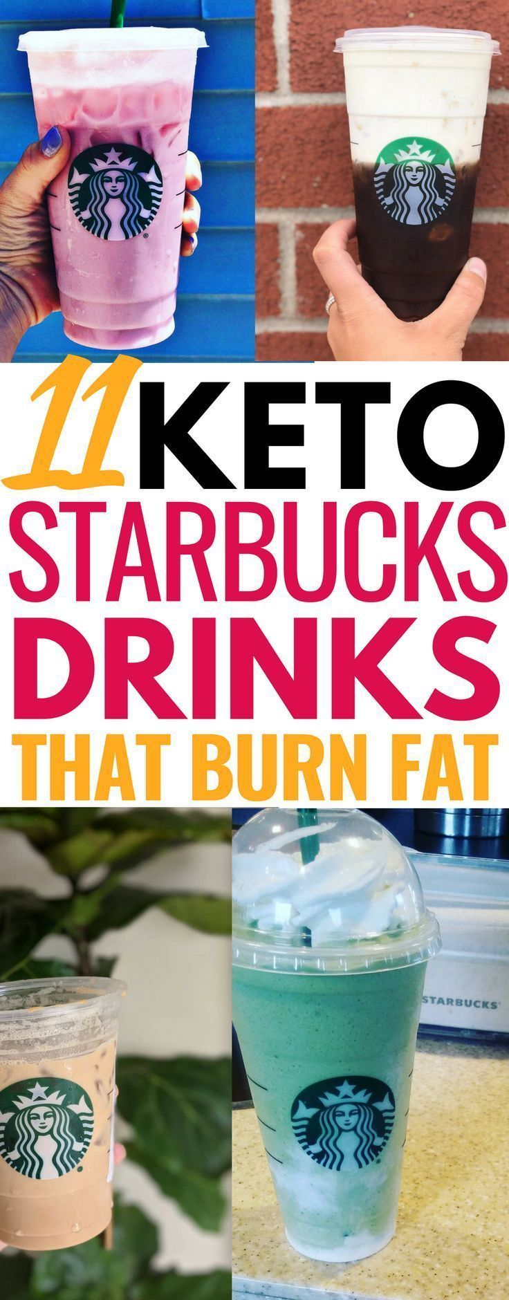 These keto Starbucks drinks are THE BEST! Plus they're perfect for keeping me bu...