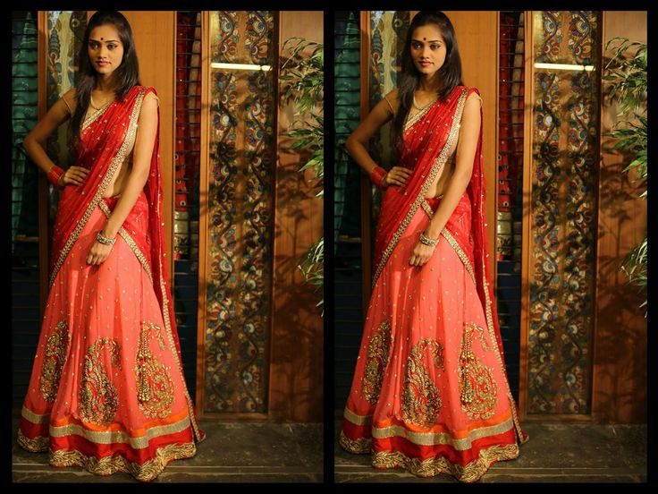 17 Best Images About Half Sarees On Pinterest