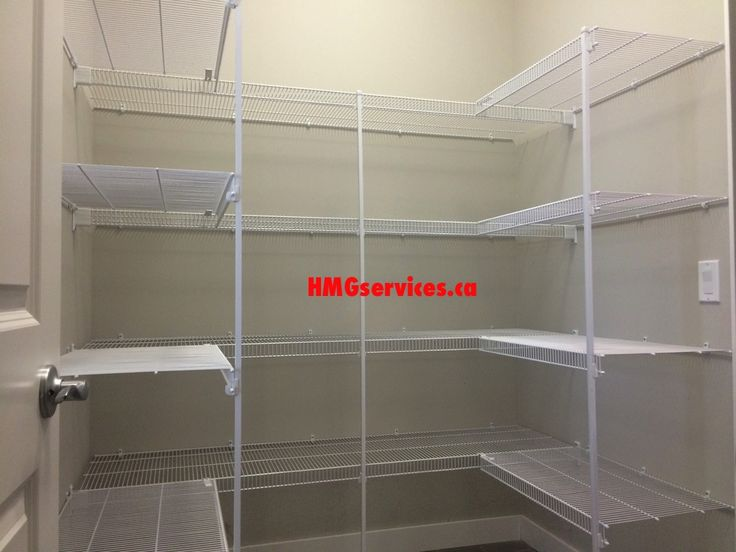 White wire closet solutions for your pantry