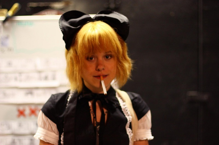 Alison Pill as Kim Pine in an 'out of character moment'    i've seen this photo go around a bit…    i was there. i took this photo.
