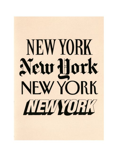I would love to see New York in person: Favorite Places, Nyc, New York, Fonts, Type, Typography, Newyork, Design