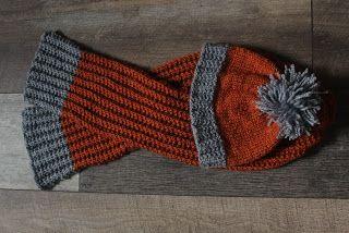 winter, beanie, scarf, orange, grey, knitting