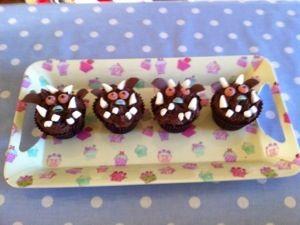 toddler gruffalo cupcakes