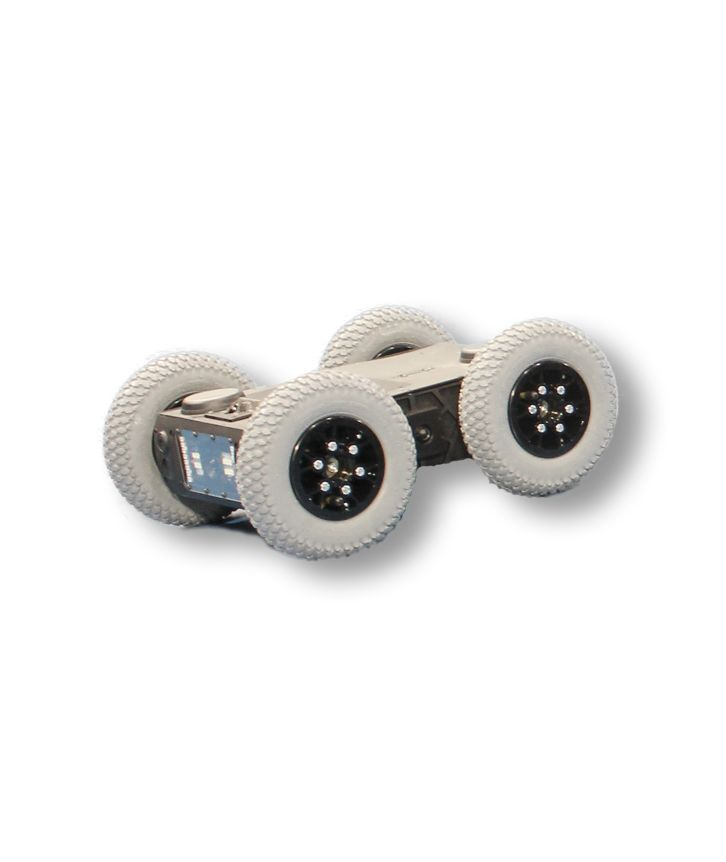 The Ozbot Jnr is a lightweight wheeled robot with 6hr battery life and 360 deg vision.