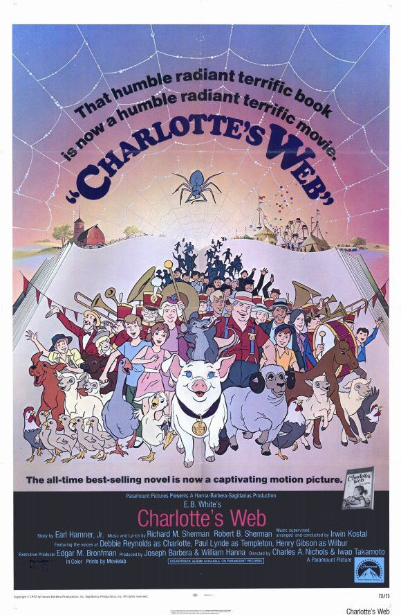 charlottes web 11x17 movie poster 1973