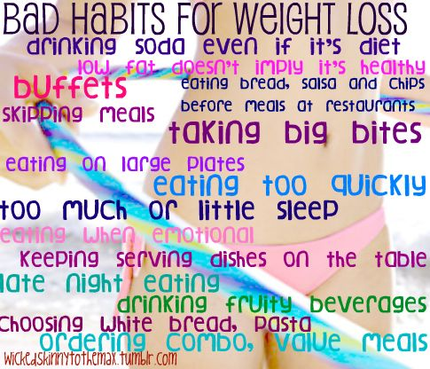 Change to 'Bad Habits for your health.'  Don't concentrate so much on losing weight, concentrate on being as healthy as possible, and the weight will come off.