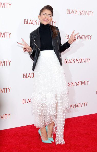Zendaya Coleman Photos Photos - Actress/singer Zendaya attends the 'Black Nativity' premiere at The Apollo Theater on November 18, 2013 in New York City. - 'Black Nativity' Premieres in NYC
