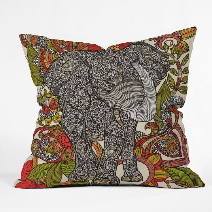 Valentina Ramos Bo The Elephant Throw Pillow | DENY Designs Home Accessories