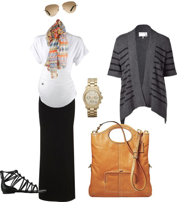 """""""Maternity Casual III"""" by pregnantchicken on Polyvore - I'm not crazy about the sweater, but the outfit is cute!"""