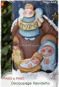 Una teja puede ser un perfecta Nacimiento para esta Navidad. Si queréis inspiraros para hacer la vuestra, no os podéis perder este tutorial que nos ha dejado elbaulesmeralda en su blog