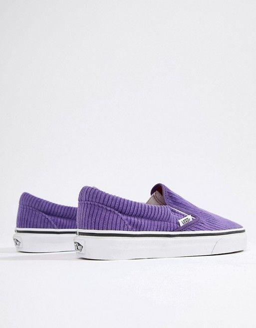 c6f6c71345 Vans Exclusive Purple Corduroy Slip-On Trainers