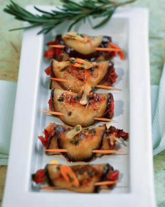 Involtini di #melanzane con #pomodori secchi e pecorino #fingerfood #appetizer #recipe #ricetta