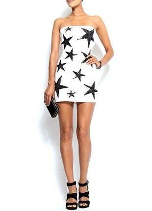 Kup mój przedmiot na #vintedpl http://www.vinted.pl/damska-odziez/krotkie-sukienki/14506561-piekna-biala-sukienka-w-gwiazdy-mango