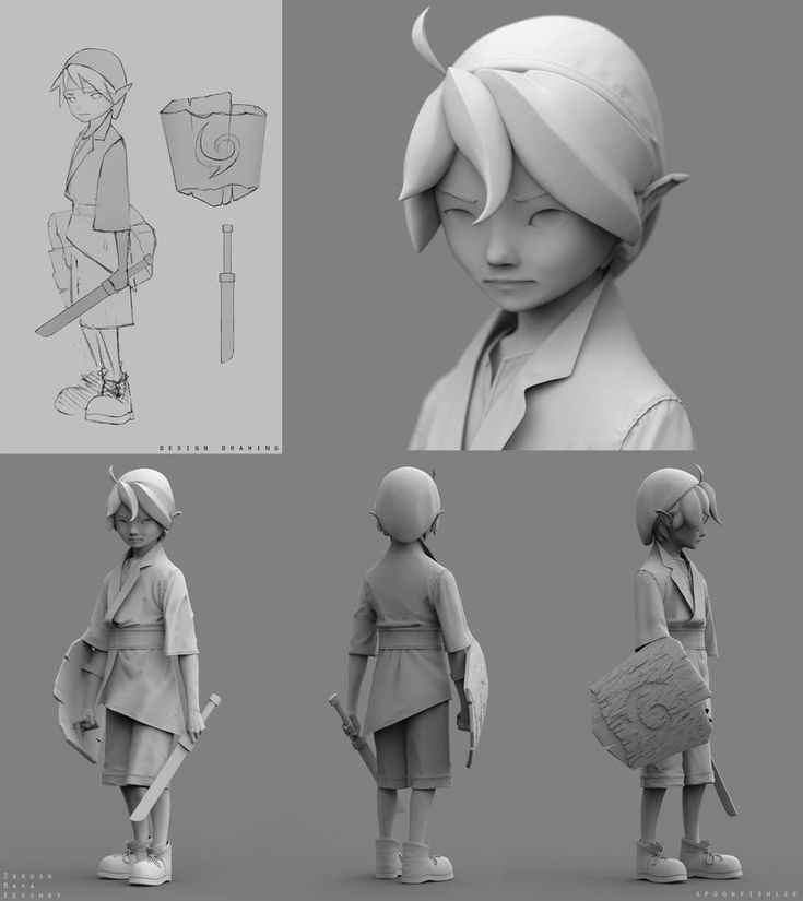 Link Redesign Model by SpoonfishLee on DeviantArt