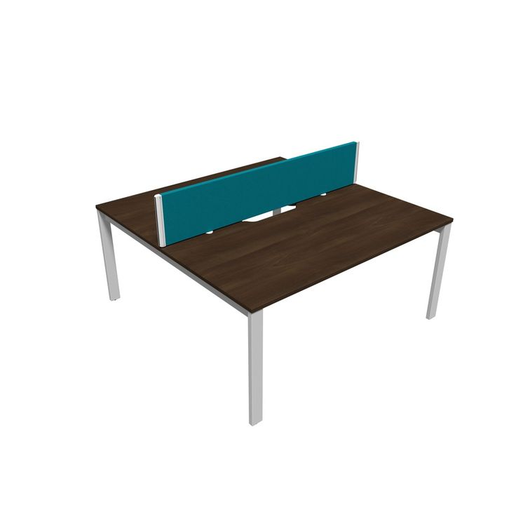 next office desk. unite 2 person bench desk with pole legs next day delivery next office