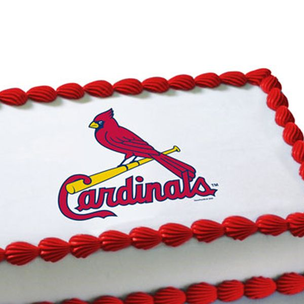 Mlb St Louis Cardinals Edible Image Cake Decoration Free Shipping