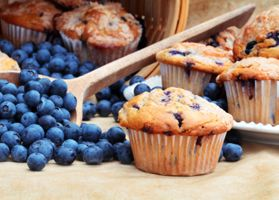 Gluten-Free Blueberry Corn Muffins: A great gluten-free option, these muffins are packed with fruit and flavor. Make them ahead of time and freeze them for an on-the-go breakfast at a later date.